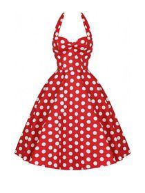 Halterneck Backless Polka Dots Mini Dress img