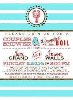Crawfish or Lobster Boil Wedding Shower by SayItLoudDesigns, $15.00
