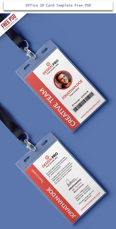 Id Card Template Photoshop Awesome Id Card Design Psd Name Tag Design, Id Card Design, Id Design, Badge Design, Business Card Design, Business Templates, Flyer Design, Id Card Template, Card Templates