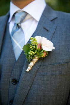 Rustic boutonniere: http://www.stylemepretty.com/little-black-book-blog/2014/05/02/rustic-dawn-ranch-wedding/ | Photography: Janae Shields - http://janaeshields.com/