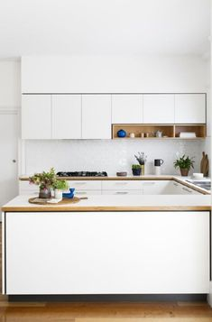 Kitchen island ideas for inspiration on creating your own dream kitchen. diy painted small kitchen design - with seating and lighting Modern Kitchen Design, Interior Design Kitchen, Home Design, Kitchen Decor, Design Ideas, Kitchen Ideas, Kitchen Designs, U Shaped Kitchen Interior, Minimalist Kitchen Counters