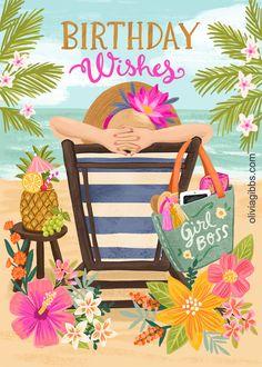 Birthday Wishes Girl, Happy Birthday Greetings Friends, Happy Birthday Art, Birthday Wishes And Images, Birthday Blessings, Happy Birthday Pictures, Happy Birthday Messages, Birthday Fun, Bday Cards