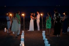 #Night #Wedding #Ceremony ♡ For how to organise an entire wedding ... on a budget https://itunes.apple.com/us/app/the-gold-wedding-planner/id498112599?ls=1=8 ♥ THE GOLD WEDDING PLANNER iPhone App ♥  http://pinterest.com/groomsandbrides/boards/ for an abundance of wedding ideas ♡
