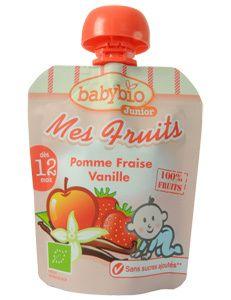 NOVEDAD Mes Fruits Manzana Fresa Vainilla Babybio - Ecologgi.com 4x90g #AlimentosBio