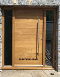Contemporary Front Doors, oak iroko and other woods, Bespoke Doors Double Front Doors, Wood Front Doors, Front Door Entrance, House Front Door, House Doors, Entrance Ideas, Door Ideas, Modern Wooden Doors, Contemporary Front Doors