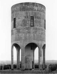 Water Tower, photography by Bernd and Hilla Becher, in Diepholz, Germany. - Water Tower, photography by Bernd and Hilla. Architecture Ombre, Plans Architecture, Concrete Architecture, Industrial Architecture, Interior Architecture, Classical Architecture, Amazing Architecture, Interior Design, Hilla Becher
