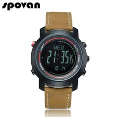 """""""SPOVAN Men's with Genuine Leather Band Sport 