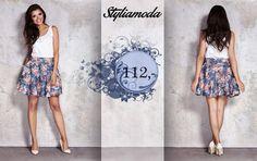 Lubicie kwiaty :)? Propozycja na dziś - modna, zdobiona motywem kwiatowym bawełniana spódnica, dostępna u nas :)  http://styliamoda.pl/home/4347-kwiatowa-spodnica.html