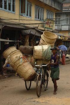 Burma Basket Seller
