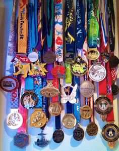 How To Put Together A Race Medal Display