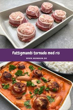 Fattigmands tournedos med ris - Kødboller i flødesauce Food N, Good Food, Food And Drink, Yummy Food, Lchf, Snack Recipes, Snacks, Crockpot Recipes, Soup Recipes