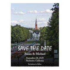 #savethedate #postcards - #Norway Scandinavia Oslo Travel Save the Date Postcard