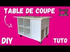 Fabriquer une Table de Coupe avec Roulettes - TUTO DIY - YouTube Ikea, Lockers, Locker Storage, Table, Diy, Loft, Cabinet, Furniture, Home Decor