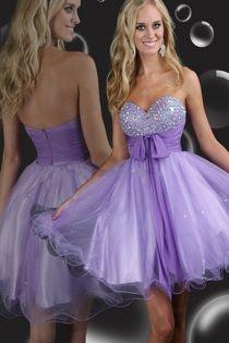 Purple A-line Short/Mini Sweetheart  Dresse