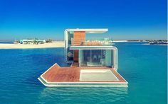 The Heart of Europe's Floating Seahorse Villas and New Signature Edition – if it's hip, it's here Underwater Bedroom, Underwater House, Floating Boat, Floating House, Luxury Houseboats, Sleep With The Fishes, Dubai Houses, Floating Architecture, Lakefront Property