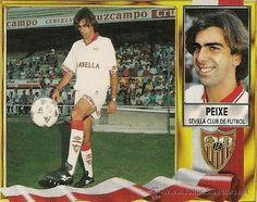 Cromo Peixe Sevilla Ediciones Este Temporada 95-96 de noche