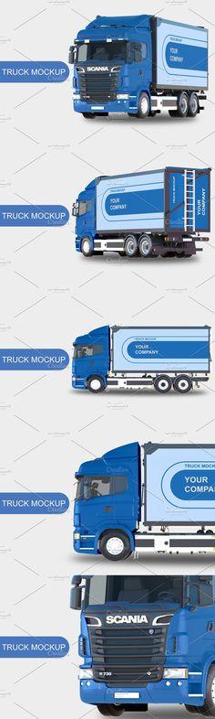 Container Design, Mockup, Trucks, Truck, Scale Model, Cars