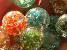 How to crack marbles - 450 oven for 7 minutes then put marbles in a bowl of ice water. Turn into jewelry later.