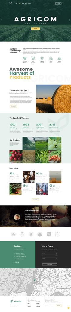 Agricom - Agriculture & Organic Food HTML Theme Pack #html #organic #organic farm • Download ➝ https://themeforest.net/item/agricom-agriculture-organic-food-html-theme-pack/19353336?ref=pxcr