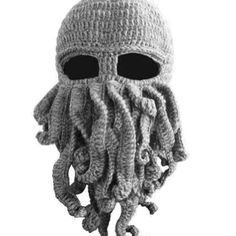 LOCOMO Tentacle Octopus Cthulhu Knit Beanie Hat Cap Wind Ski Mask FFH135GRY