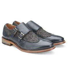 7580244557 Vintage Foundry Shop · Dress Formal - Men's Avalite Monk Strap Facebook T  Shirt, Calf Leather, Navy Jeans