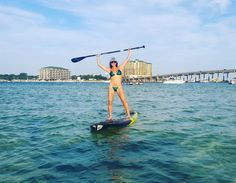#destin #florida #floridalife #harbor #crabisland #yolo #yoloboard #bote #paddleboarding #paddle #water #beach #legs #legsfordays #workout #fit #fitlife #fitness #fitchick by elinamckinney