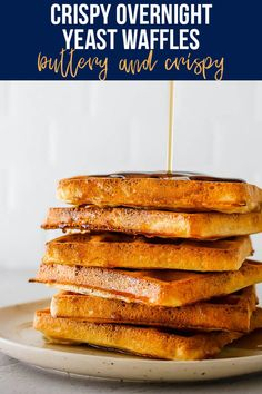 Buttery and crispy, these overnight yeast waffles are perfect for a special occasion. The best part? Breakfast is halfway made the night before! #sweetpeasandsaffron #overnightwaffles #breakfast #mealprep #holidayrecipe Slow Cooker Freezer Meals, Slow Cooker Recipes, Best Breakfast Recipes, Brunch Recipes, Breakfast For Dinner, Breakfast Ideas, Brunch Dishes, Lunch Meal Prep