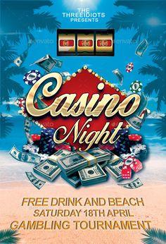 Summer Casino Flyer | Casino Infographics