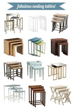 Nesting tables from Lamps Plus from @Centsational Blog Blog Girl on @Gayle Robertson Roberts Merry Homes and Gardens #homedecor #furniture #nestingtables