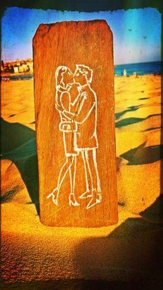 French kiss #art #reclaimedwood