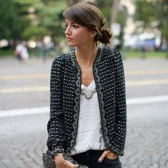 in Verona with Intimissimi - Lovely Pepa by Alexandra. [Would like this look better if the white shirt wasn't too big for her. French Fashion, Look Fashion, Fashion Outfits, Womens Fashion, Tweed Chanel, Looks Style, Style Me, Shopping Queen, Estilo Hippie