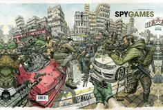 Spy Games is a comic book written by Jean-David Morvan, illustrated by Kim Jung Gi and published by lesEditions Glénat. It is a 'classic' 48 pages color big size french format