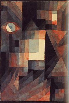 Paul Klee's Water Color Red-Green Steps in Weimar (1923)