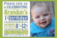 Photo Birthday Party Invitation - Starry by CollideStudio on Etsy