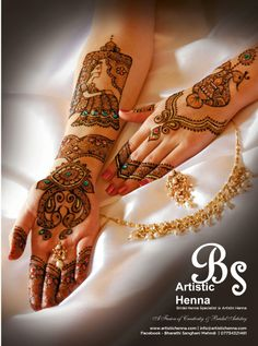 Bride in a doli - Henna photoshoot for the ASIANA wedding magazine Nov 2013 issue. www.ArtisticHenna.com https://www.facebook.com/bharathisanghani