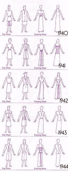 style through the years - be good to take out with me to the vintage/charity shops for guidance. Thinking first off I'd like to do evening wear as it is 'Glamour' after all.