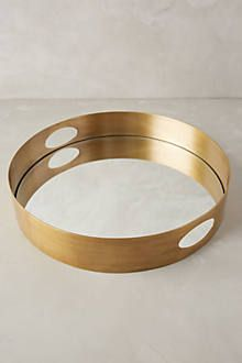 Brass Mirrored Tray - anthropologie.com