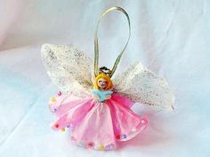 Clothespin Angel Ornament by kaboose.com #Christmas #Crafts #Angel