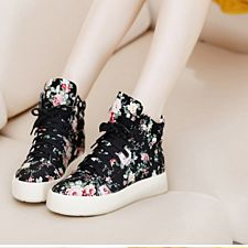 floral thick sole sneakers