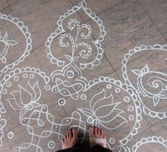chalk drawings, if i ever have a concrete floor in my home....