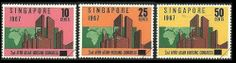 Singapore Stamps - 1967 2nd Afro-Asian Housing Congress - MNH, VF by Great Wall Bookstore. $6.08