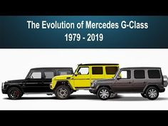 The Evolution Of Mercedes-Benz G-Class Mercedes Suv, Mercedes G Wagon, Mercedes G Class, Benz G Class, Vroom Vroom, Offroad, Evolution, 4x4, Trips