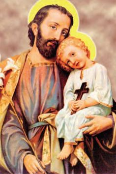 O exalted Head of the Holy Family, I venerate deeply, and heart I cry. Catholic Saints, Patron Saints, Roman Catholic, Religion Catolica, Religious Pictures, Madonna And Child, Holy Family, St Joseph, Blessed Mother
