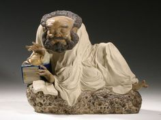 Chinese wise man reading - Shiwan pottery - c1200 AD