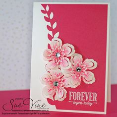 Sue Vine | MissPinksCraftSpot | Stampin' Up!® Australia Order Online 24/7 |Botanical Blooms | Suite Sayings | Handmade Card #stampinup #botanicalblooms #suitesayings