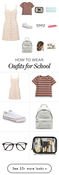 """Back to school"" by jodescorc on Polyvore featuring Miss Selfridge, Aéropostale, Converse and Kate Spade"
