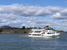 One of a number of ferries that operates from Helsinki market square to the islands that make up Suomenlinna.