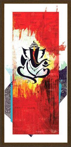Lord Ganesha Paintings, Ganesha Art, Krishna Painting, Zen, Indian Art, Indian Gods, Buddha Painting, Tinta China, Hindu Art