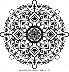 Mehndi Indian floral henna element mandala for tatoo or card. illustration isolated on white background