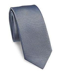Pal Zileri Textured Silk Tie - Light Blue - Size No Size